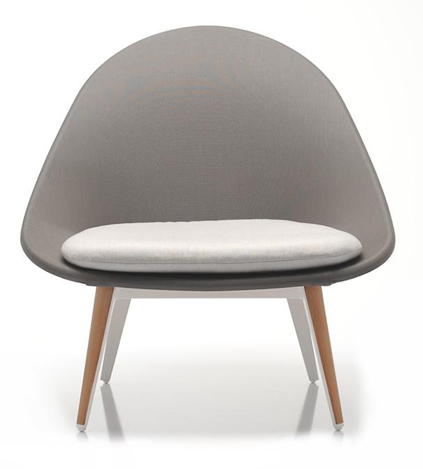Abbildung armchair Tuxum Vorderansicht