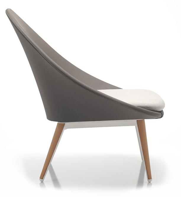 Abbildung armchair Tuxum Seitenansicht
