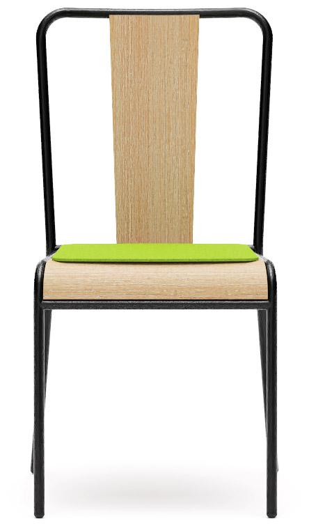 Abbildung Stuhl Pakka Vorderansicht
